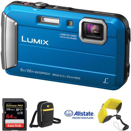 Panasonic Lumix DMC-TS30 Digital Camera Deluxe Kit (Blue)