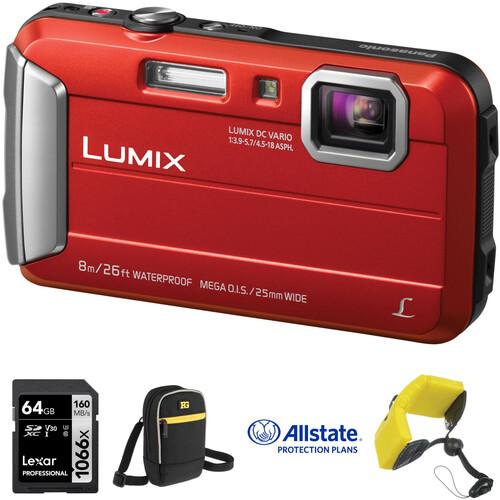 Panasonic Lumix DMC-TS30 Digital Camera Deluxe Kit (Red)