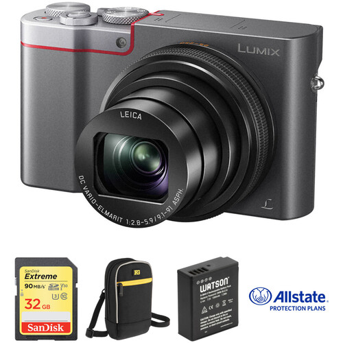Panasonic Lumix DMC-ZS100 Digital Camera Deluxe Kit (Silver)