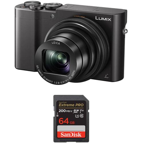 Panasonic Lumix DMC-ZS100 Digital Camera with Memory Card Kit (Black)