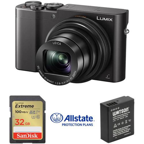 Panasonic Lumix DMC-ZS100 Digital Camera Deluxe Kit (Black)