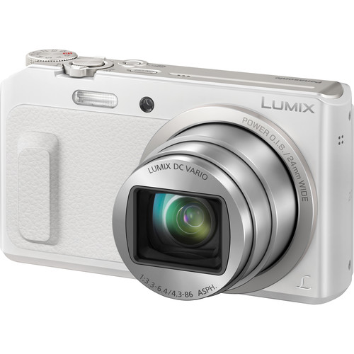 Panasonic Lumix DMC-ZS45 Digital Camera Deluxe Kit (White)