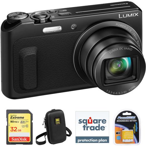 Panasonic Lumix DMC-ZS45 Digital Camera Deluxe Kit (Black)
