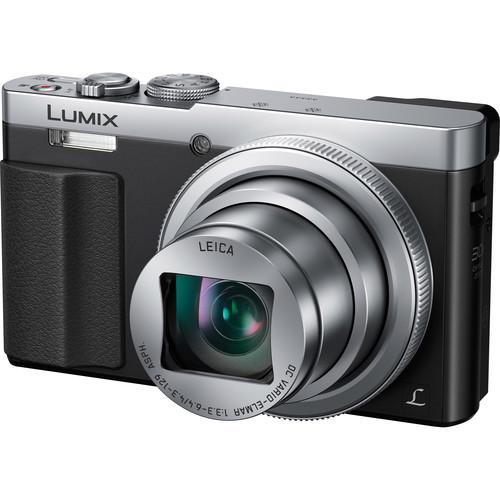Panasonic Lumix DMC-ZS50 Digital Camera Deluxe Kit (Silver, Refurbished)
