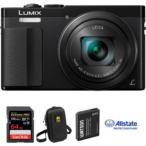 Panasonic Lumix DMC-ZS50 Digital Camera Deluxe Kit (Black)
