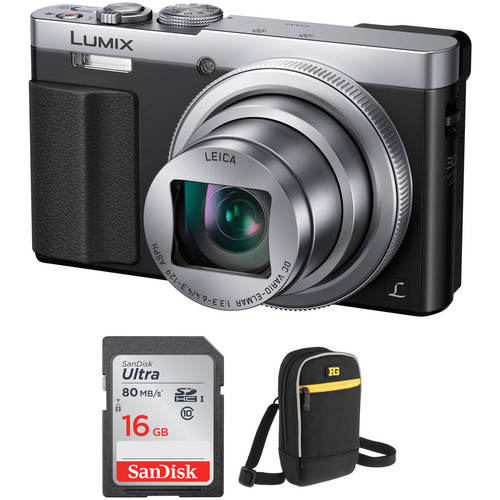 Panasonic Lumix DMC-ZS50 Digital Camera Basic Kit (Silver)