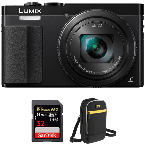 Panasonic Lumix DMC-ZS50 Digital Camera Basic Kit (Black)