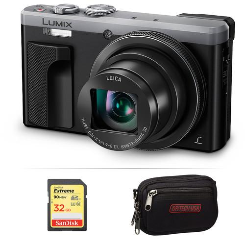 Panasonic Lumix DMC-ZS60 Digital Camera Basic Kit (Silver)