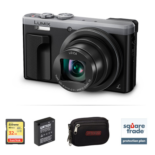 Panasonic Lumix DMC-ZS60 Digital Camera Deluxe Kit (Silver)