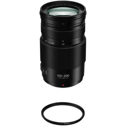 Panasonic Lumix G Vario 100-300mm f/4-5.6 II POWER O.I.S. Lens with Circular Polarizer Filter Kit