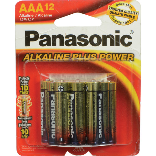 Panasonic AAA 1.5V Alkaline Batteries (12-Pack)