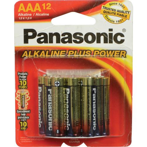 panasonic aaa 1 5v alkaline batteries 12 pack pan12aaa b h. Black Bedroom Furniture Sets. Home Design Ideas