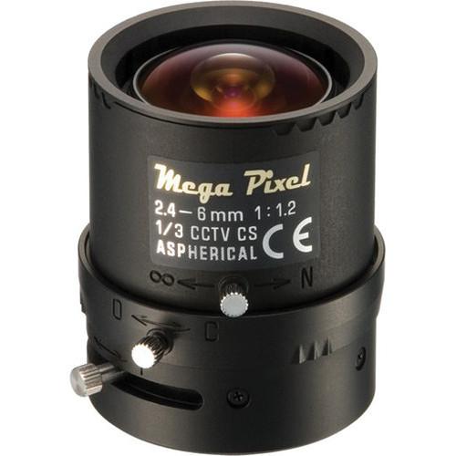 Panasonic CS-Mount 2.4-6mm f/1.2-360 DC Auto Iris Lens with Manual Focus and Zoom