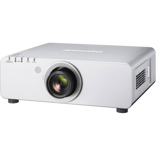 Panasonic PT-DW740US 1-Chip 7000 Lumens DLP Projector with Lens (Silver)