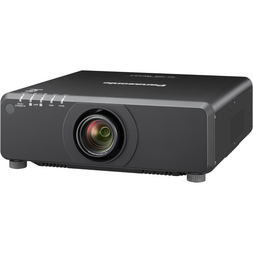 Panasonic PT-DW750BU 1-Chip 7000L WXGA DLP Projector (25.6 – 35.7mm Lens, Black)