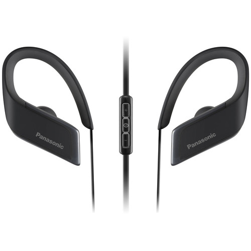 Panasonic RP-BTS30-K WINGS Wireless Bluetooth Sport Clips with Mic & Controller (Black)