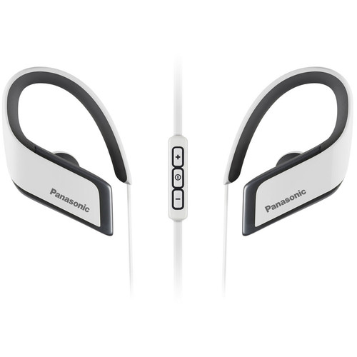 Panasonic RP-BTS30-W Wings Wireless Bluetooth Sport Clips with Mic & Controller (White)