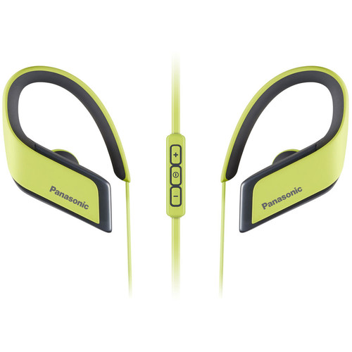 Panasonic RP-BTS30-Y Wings Wireless Bluetooth Sport Clips with Mic & Controller (Yellow)