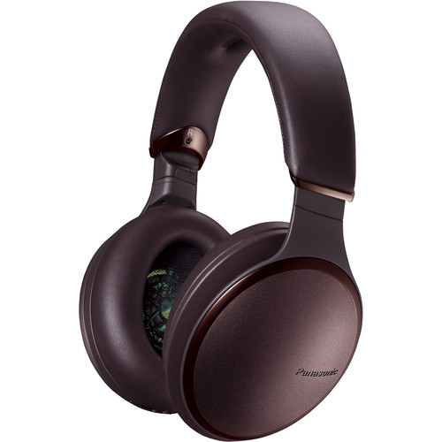 Panasonic RP-HD605N-T Premium Hi-Res Wireless Bluetooth Noise Cancelling Headphones (Maroon)