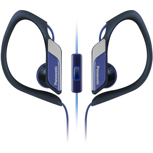 Panasonic RPHS34M-A Water Resistant Sport Clip Earbud Headphones (Blue)