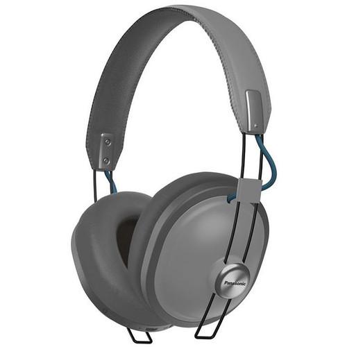 Panasonic Retro Over-Ear Wireless Headphones (Matte Steel)