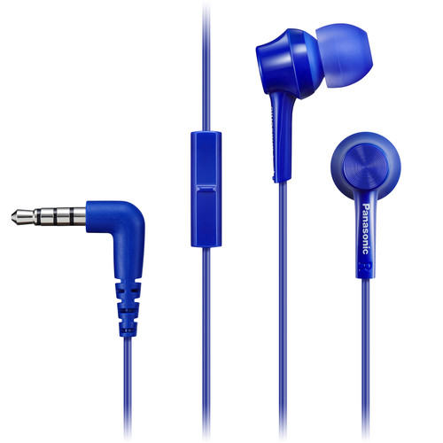 Panasonic RP-TCM115-A Canal-Type In-Ear Headphones (Blue)