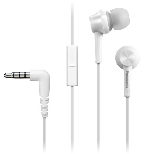 Panasonic RP-TCM115-W Canal-Type In-Ear Headphones (White)