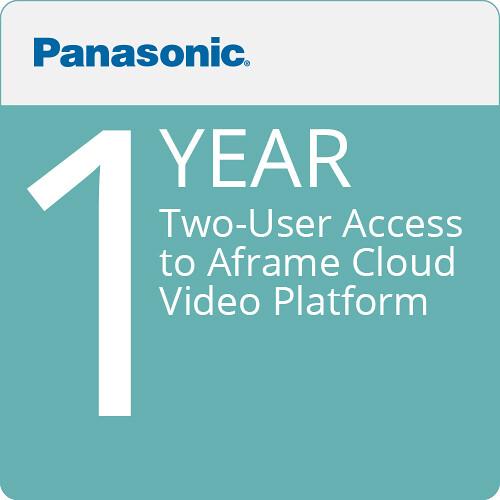 Panasonic Two-User Access to Aframe Cloud-Video Platform (12 Months)