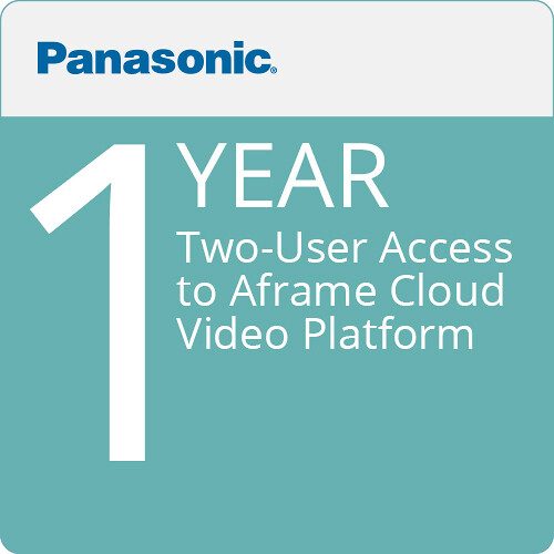 Panasonic Two-User Access to Aframe Cloud-Video Platform (12 Months)