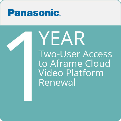 Panasonic Two-User Access to Aframe Cloud-Video Platform (12-MonthRenewal)