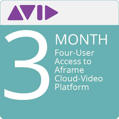 Panasonic Four-User Access to Aframe Cloud-Video Platform (90 Days)