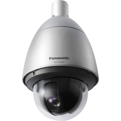 Panasonic Super Dynamic WV-SW397B 720p Outdoor PTZ Dome Network Camera with Rain Wash Coating