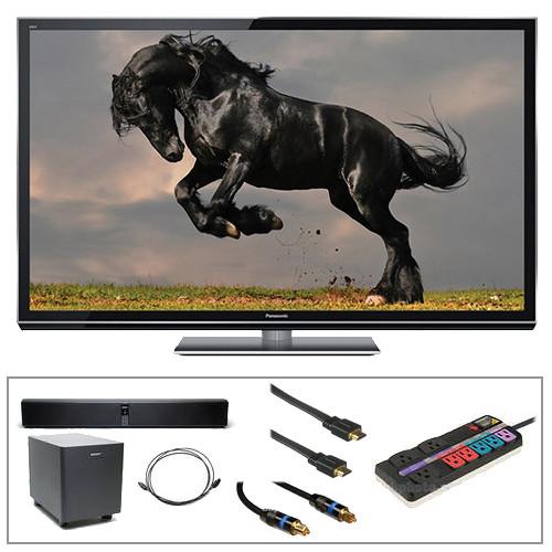 """Panasonic Smart Viera 50"""" Class GT50 Series Full HD Plasma 3D TV Advanced Kit"""
