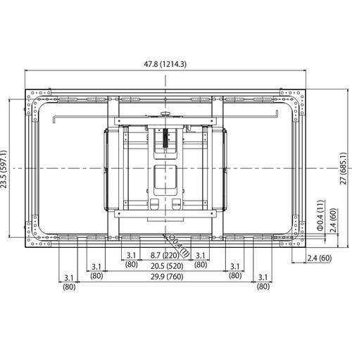 "Panasonic Wall Mounting Bracket for TH-55LFV8 55"" LCD Video Wall Display"