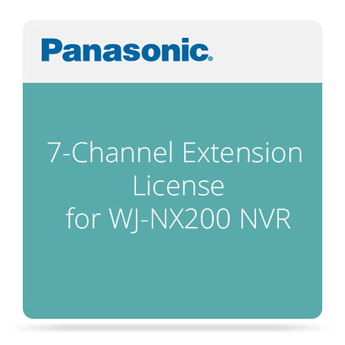 Panasonic 7-Channel Extension License for WJ-NX200 NVR