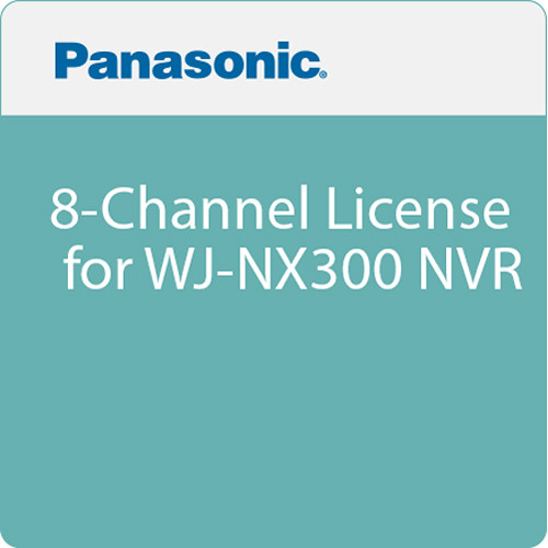 Panasonic 8-Channel License for WJ-NX300 NVR