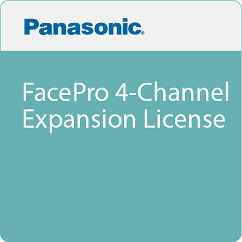 Panasonic FacePro 4-Channel Expansion License