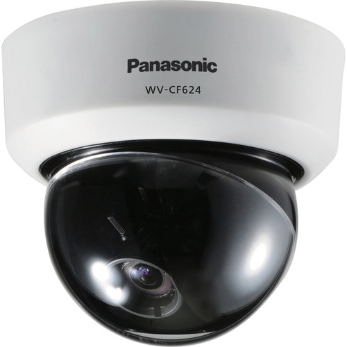 Panasonic WV-CF624 Day/Night Fixed Dome Analog Camera with Super Dynamic 6 Technology (NTSC, White)