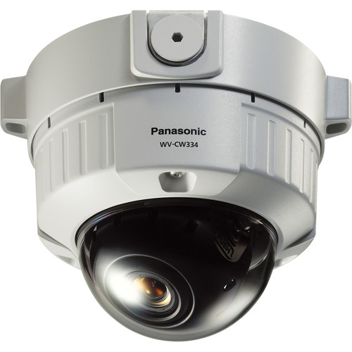 Panasonic WV-CW334 Vandal-Resistant Day/Night Fixed Dome Outdoor Camera with 2.8 to 10mm Varifocal Lens