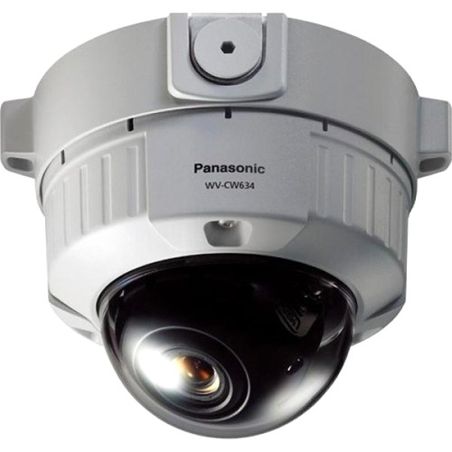 Panasonic WV-CW634S/22 Super Dynamic 6 Fixed Dome Camera with 2.2-6mm Lens (Surface Mount)