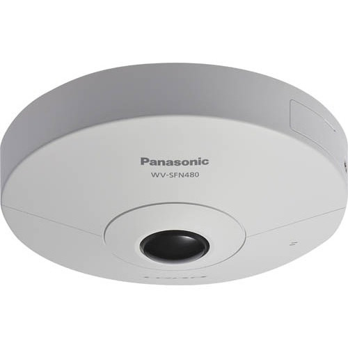 Panasonic WV-SFN480 i-PRO ULTRA 360° Indoor Network Dome Camera with with 1.38mm Fisheye Lens