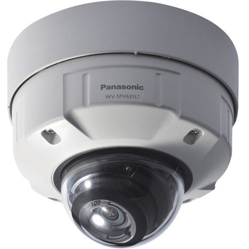 Panasonic 6 Series WV-SFV631LT Indoor/Outdoor 1080p Day/Night Vandal-Resistant Network Dome Camera with 9-22mm Lens (Light Gray)