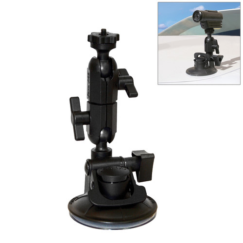 PANAVISE ActionGrip 3-N-1 Suction Cup Action Cam Mount Kit