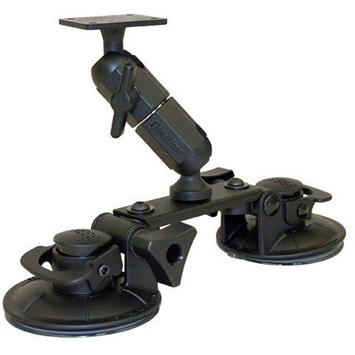 PANAVISE Double Suction Cup Mount with Bridge, Double Knuckle, & AMPS Head