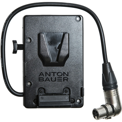 Paralinx V-Mount Battery Plate with Right-Angled 4-Pin XLR Power Cable
