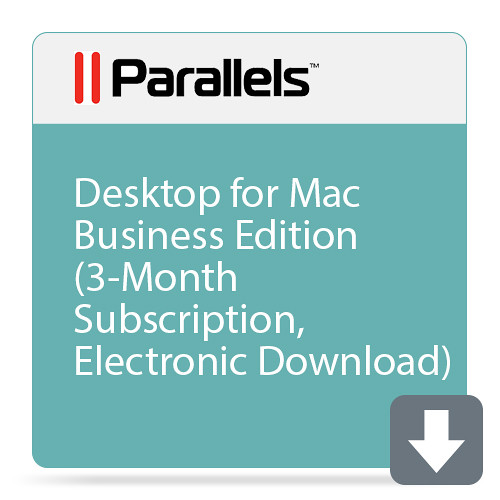 Parallels Desktop for Mac Business Edition (3-Month Academic Subscription, Electronic Download)