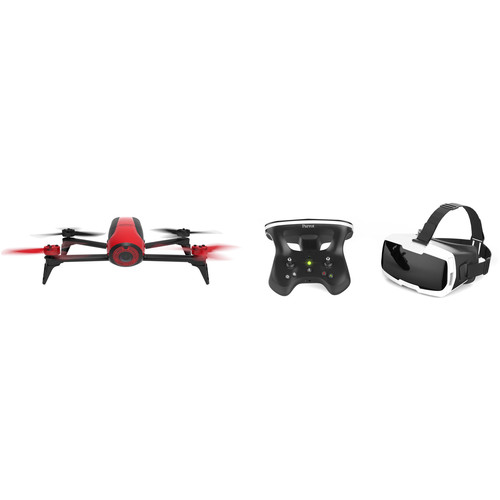 Parrot Bebop 2 Drone Kit with FPV Pack Bundle (Red)