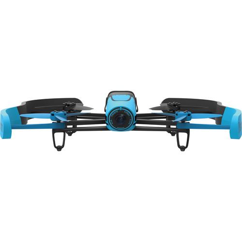 Parrot BeBop Drone Quadcopter with Wheeled Hard Case Bundle (Blue)