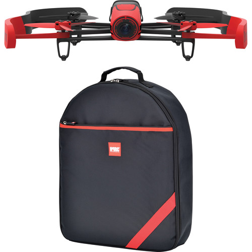 Parrot BeBop Drone Quadcopter with Backpack Bundle (Red)