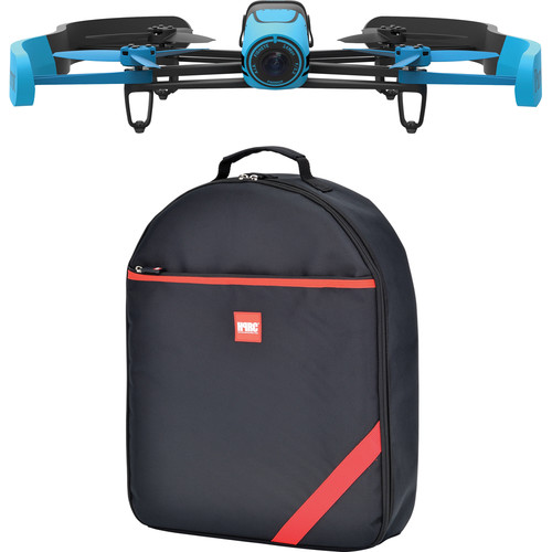 Parrot BeBop Drone Quadcopter with Backpack Bundle (Blue)